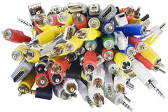 Connectors chaos close-up Stock Image