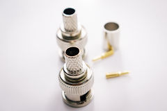Connectors coaxial cable Stock Images