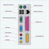 Connectors computer unit vector illustration