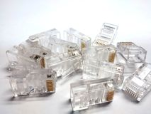 Connectors RJ45 Royalty Free Stock Images