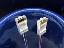 Connectors on sky Stock Photos
