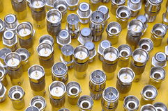 Connectors coaxial rf Stock Images