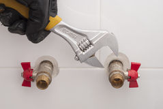 Connects plumbing fittings Royalty Free Stock Photos