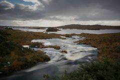 Connemara瀑布3 免版税库存照片