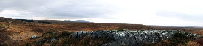 Connemara contenuto panorama, Irlanda Fotografia Stock