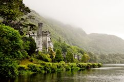 Kylemore Abbey in Connemara County Galway Ireland. CONNEMARA, IRELAND – Jun 16, 2017: Kylemore Abbey is a Benedictine monastery founded in 1920 on the stock photo