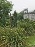 Kylemore Abbey Castle in Connemara County Galway Ireland. Connemara, Ireland – Jun 17, 2017: Kylemore Abbey is a Benedictine monastery founded in 1920 on royalty free stock photography