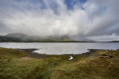 Connemara lake and mountains in Co. Mayo, Ireland Stock Images