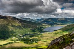 Connemara landscape stock photo