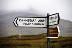 Connemara Loop road sign indication Stock Images