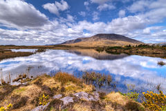 Connemara mountains and lake scenery Royalty Free Stock Images