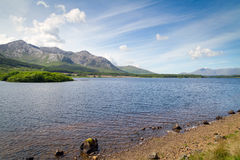 Connemara mountains and lake scenery. Ireland Royalty Free Stock Images