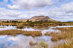 Connemara national park. Connemara mountains and lake scenery, Ireland Stock Photos