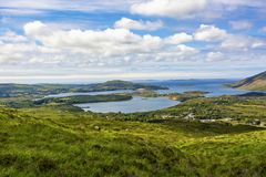 Connemara National Park. View from the Lower Diamond Hill. Letterfrack. Ireland royalty free stock photo