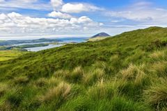 Connemara National Park. View from the Lower Diamond Hill. Letterfrack. Ireland royalty free stock photography