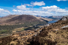 Connemara National Park from a top of the mountain Stock Photo
