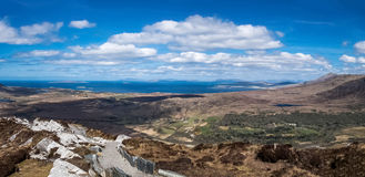 Connemara National Park from a top of the mountain Royalty Free Stock Photos
