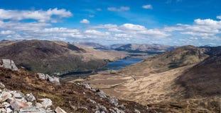 Connemara park narodowy od wierzchołka góra zdjęcie stock