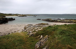 Connemara rainy beach landscape Stock Photo