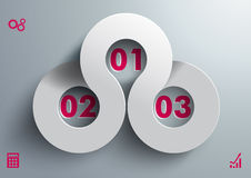 Connencted Circles 3 Options Grey Purple PiAd Royalty Free Stock Photo