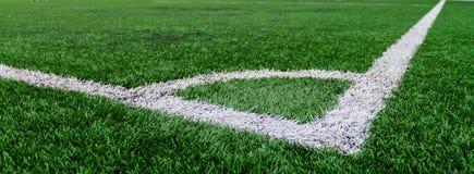 Conner de la hierba del campo de fútbol Imagenes de archivo