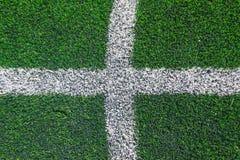 Conner de la hierba del campo de fútbol Fotos de archivo