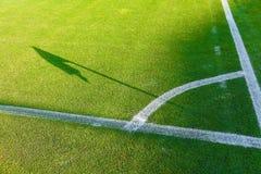 Conner del campo de fútbol Imagen de archivo libre de regalías