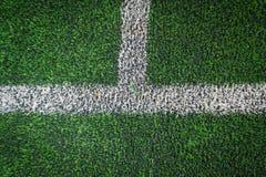 Conner för gräs för fotbollfält Arkivfoton
