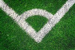 Conner för gräs för fotbollfält Fotografering för Bildbyråer