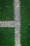 Conner för gräs för fotbollfält Royaltyfri Fotografi