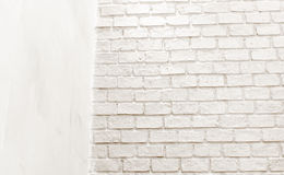Conner room white brick wall,leave space for add text content Royalty Free Stock Photos