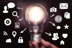 Connessione di rete dell'icona di idea della società di affari immagine stock libera da diritti