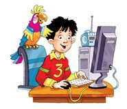 connessione di spavento del monitor del computer il programma di parola d'ordine Fotografie Stock Libere da Diritti