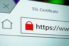 Connessione SSL Immagine Stock