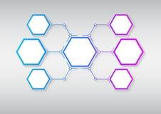 Connesso da una cella colorata Fotografia Stock Libera da Diritti
