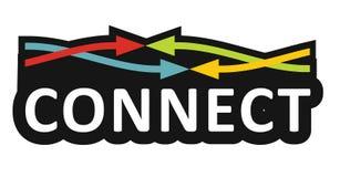 Connetion, Communicatie concept stock illustratie