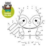 Connetta i puntini Punto da punteggiare da attivit? di numeri per i bambini ed i bambini Gioco educativo dei bambini Procione del royalty illustrazione gratis