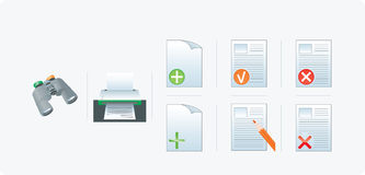 Connetta le icone Immagine Stock Libera da Diritti