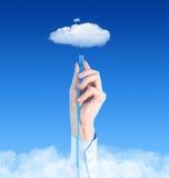 Connettendo al concetto della nube Immagine Stock