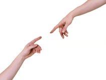 Connettere delle braccia di Tho Fotografia Stock