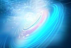 Connettivit? globale e serie futura di concetto del fondo di tecnologie illustrazione vettoriale