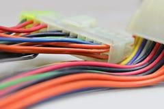 Connettore del cablaggio del cavo fotografie stock