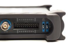Connettore dell'input di BNC dell'oscilloscopio del segnale numerico fotografia stock