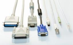Connettore di cavo fotografie stock