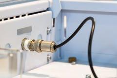 Connettore di cavo ad alta frequenza Immagini Stock Libere da Diritti