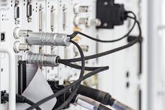 Connettore di cavo ad alta frequenza fotografia stock