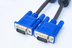 Connettore di cavo maschio di VGA Fotografie Stock Libere da Diritti