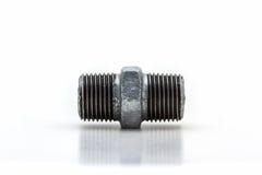 Connettore infilato (capezzolo) di esagono, accessorio per tubi Fotografia Stock Libera da Diritti