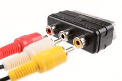 Connettori del RCA e di SCART Fotografia Stock