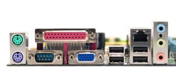 Connettori di Mainboard Fotografia Stock